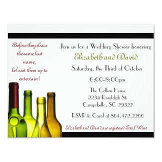 Stock the Bar Shower, Wine Bottle Card