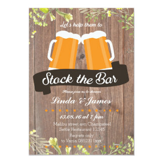Stock The Bar Wood Invitation