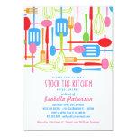 Stock the Kitchen Retro Style Bridal Shower 13 Cm X 18 Cm Invitation Card