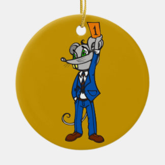 Stockbroker Mouse Christmas Tree Ornaments