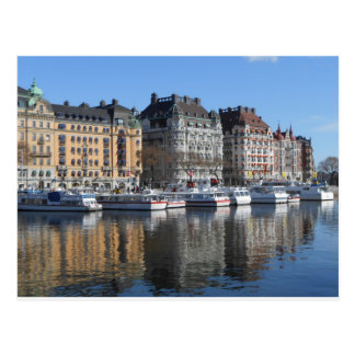 Stockholm Boats and Buildings Postcard