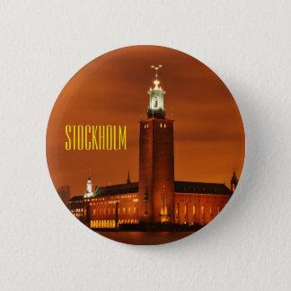 Stockholm City Hall, Sweden 6 Cm Round Badge