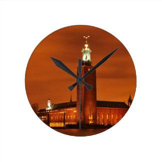 Stockholm City Hall, Sweden Round Clock