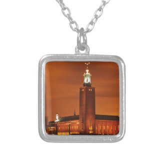 Stockholm City Hall, Sweden Silver Plated Necklace