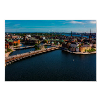 Stockholm City Skyline Poster