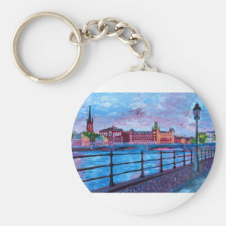 Stockholm City View Key Chains