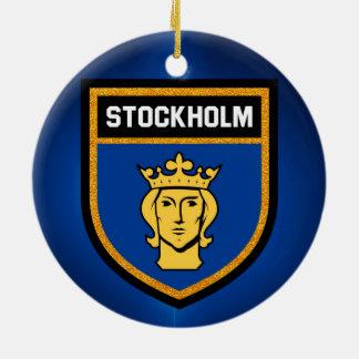 Stockholm Flag Ceramic Ornament