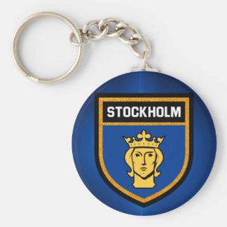 Stockholm Flag Key Ring