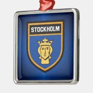 Stockholm Flag Metal Ornament