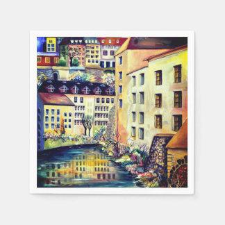 Stockholm - Gamla Stan, old city, Sweden Paper Napkins