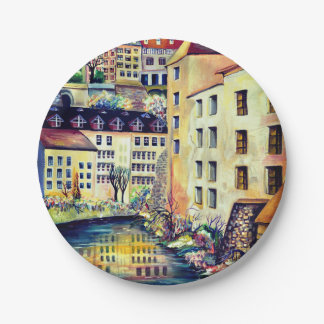Stockholm - Gamla Stan, old city, Sweden Paper Plate