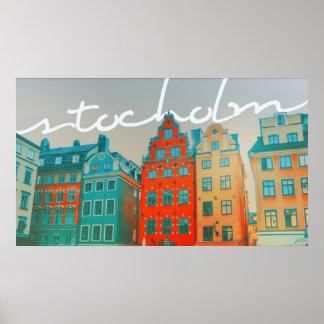 Stockholm Modern Art Poster