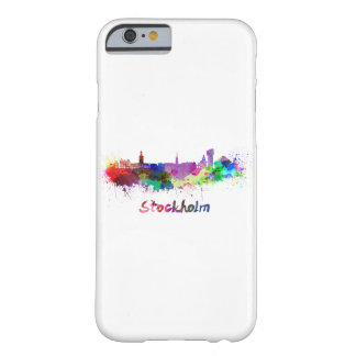 Stockholm skyline in watercolor barely there iPhone 6 case