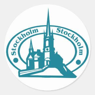 Stockholm Stamp Classic Round Sticker