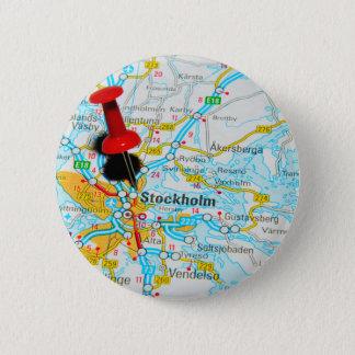 Stockholm, Sweden 6 Cm Round Badge