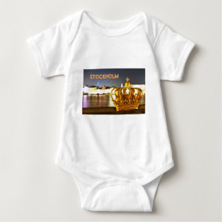 Stockholm, Sweden at Christmas at night Baby Bodysuit