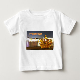 Stockholm, Sweden at Christmas at night Baby T-Shirt