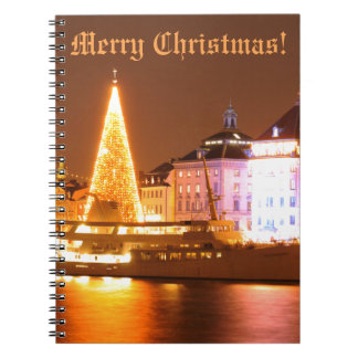 Stockholm, Sweden at Christmas at night Notebook