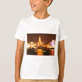 Stockholm, Sweden at Christmas at night T-Shirt
