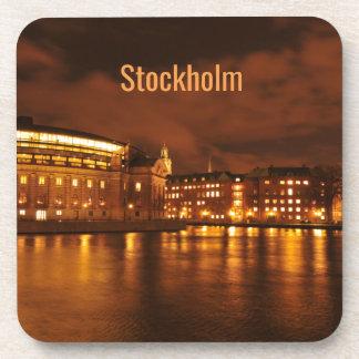 Stockholm, Sweden at night Coaster