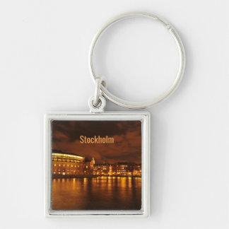 Stockholm, Sweden at night Key Ring