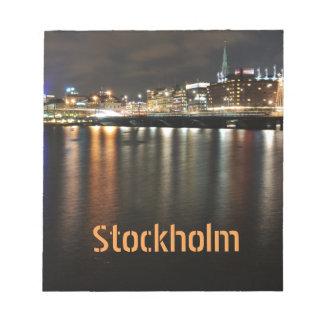Stockholm, Sweden at night Notepad
