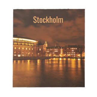 Stockholm, Sweden at night Notepad