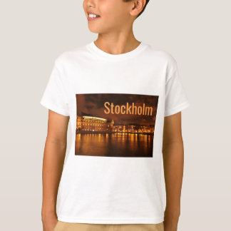Stockholm, Sweden at night T-Shirt
