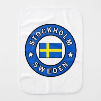 Stockholm Sweden Burp Cloth