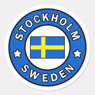 Stockholm Sweden Classic Round Sticker