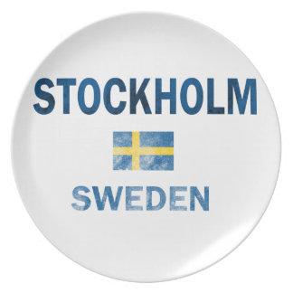 Stockholm Sweden Designs Plate