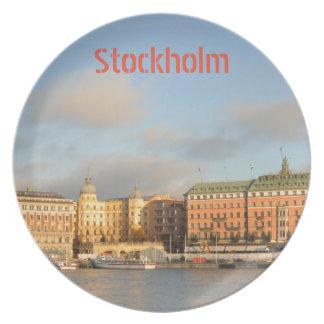 Stockholm, Sweden Plate