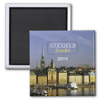 Stockholm Sweden Travel Fridge Magnet Change Year
