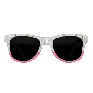 Stockholm Wood and Fresh Pink Statement Sunglasses