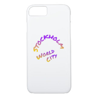 Stockholm world city,  colorful word art iPhone 8/7 case