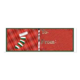 Stocking Christmas Tag Business Card Templates
