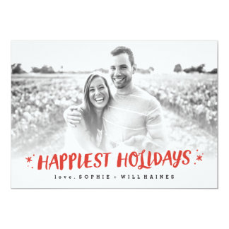 Stocking Stuffers Happy Holiday Photo Card