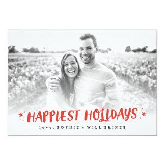 Stocking Stuffers Happy Holiday Photo Card 13 Cm X 18 Cm Invitation Card