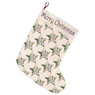 Stocking - Tuscan Star of Christmas Large Christmas Stocking