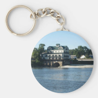 Stockport Mill_1 Basic Round Button Key Ring