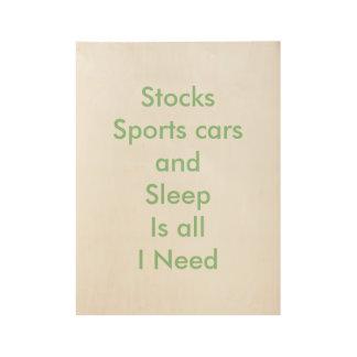 Stocks Wood Poster
