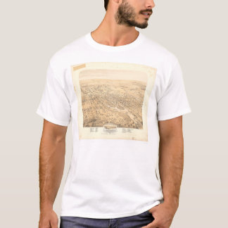 Stockton, CA Panoramic Map 1870 (1667A)-Unrestored T-Shirt