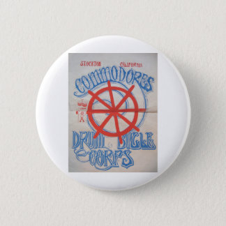 Stockton Commodores  Drum and Bugle Corps Poster 6 Cm Round Badge