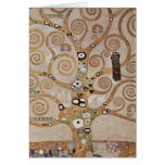 Stoclet Fries Tree Of Life Greeting Cards