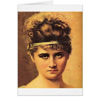 Stoic Girl with Intense Look Card