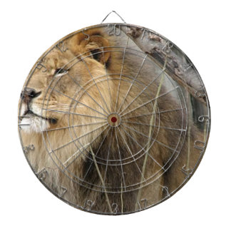 Stoic Lion Looking Off into the Distance Dartboard