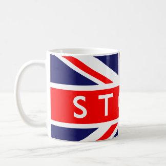 Stoke : British Flag Basic White Mug