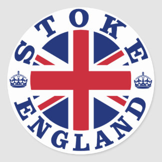 Stoke Vintage UK Design Classic Round Sticker