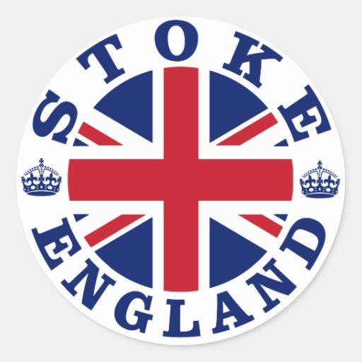 Stoke Vintage UK Design Round Stickers