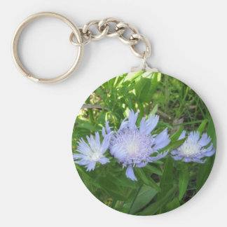 Stokesia, Stokes Aster Basic Round Button Key Ring
